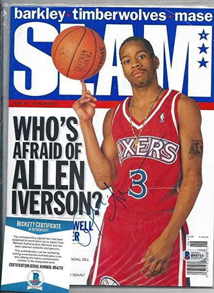 104463719f2 Allen Iverson Autographed Signed Memorabilia Slam Magazine Autograph  Beckett Coa Sixers Nba Hof at Amazon's Sports Collectibles Store