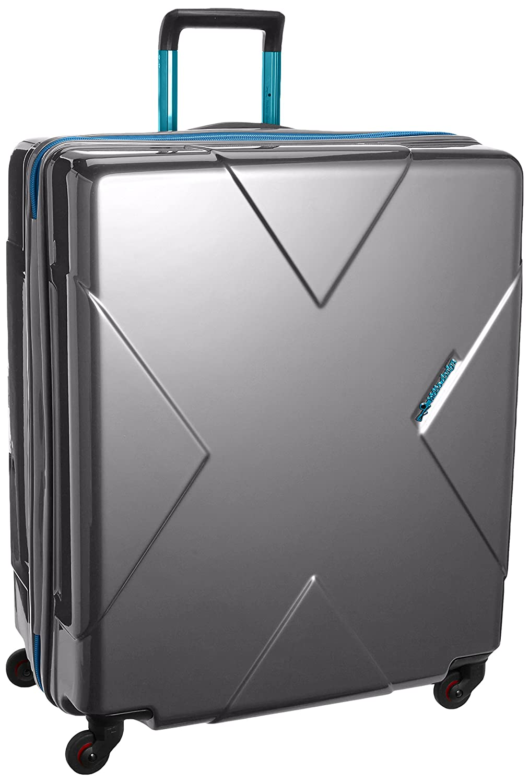 [ヒデオワカマツ] スーツケース メガマックス 預け入れ最大級容量 容量105L 縦サイズ70cm 重量5kg 85-75951 B00QKDH7I4 シルバー