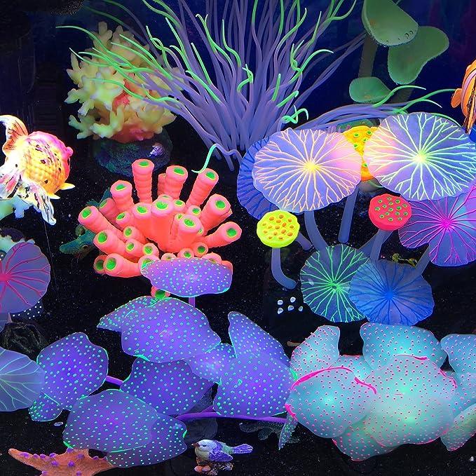 AOLVO - Decoración para Acuario, Planta Artificial de Coral para pecera, Adorno Decorativo para Acuario: Amazon.es: Productos para mascotas