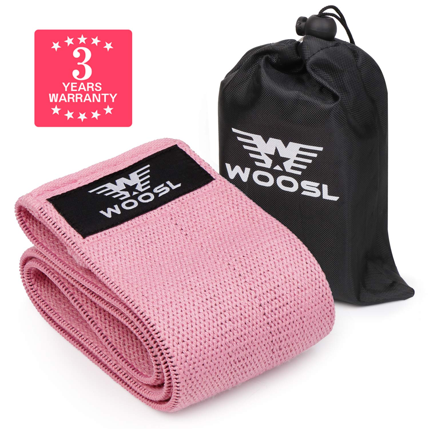 WOOSL [Upgrade 2019] Resistance Exercise Bands for Legs and Butt,Hip Bands Wide Booty Bands Workout Bands Sports Fitness Bands Stretch Resistance Loops Band Anti Slip Elastic(1 PCS)