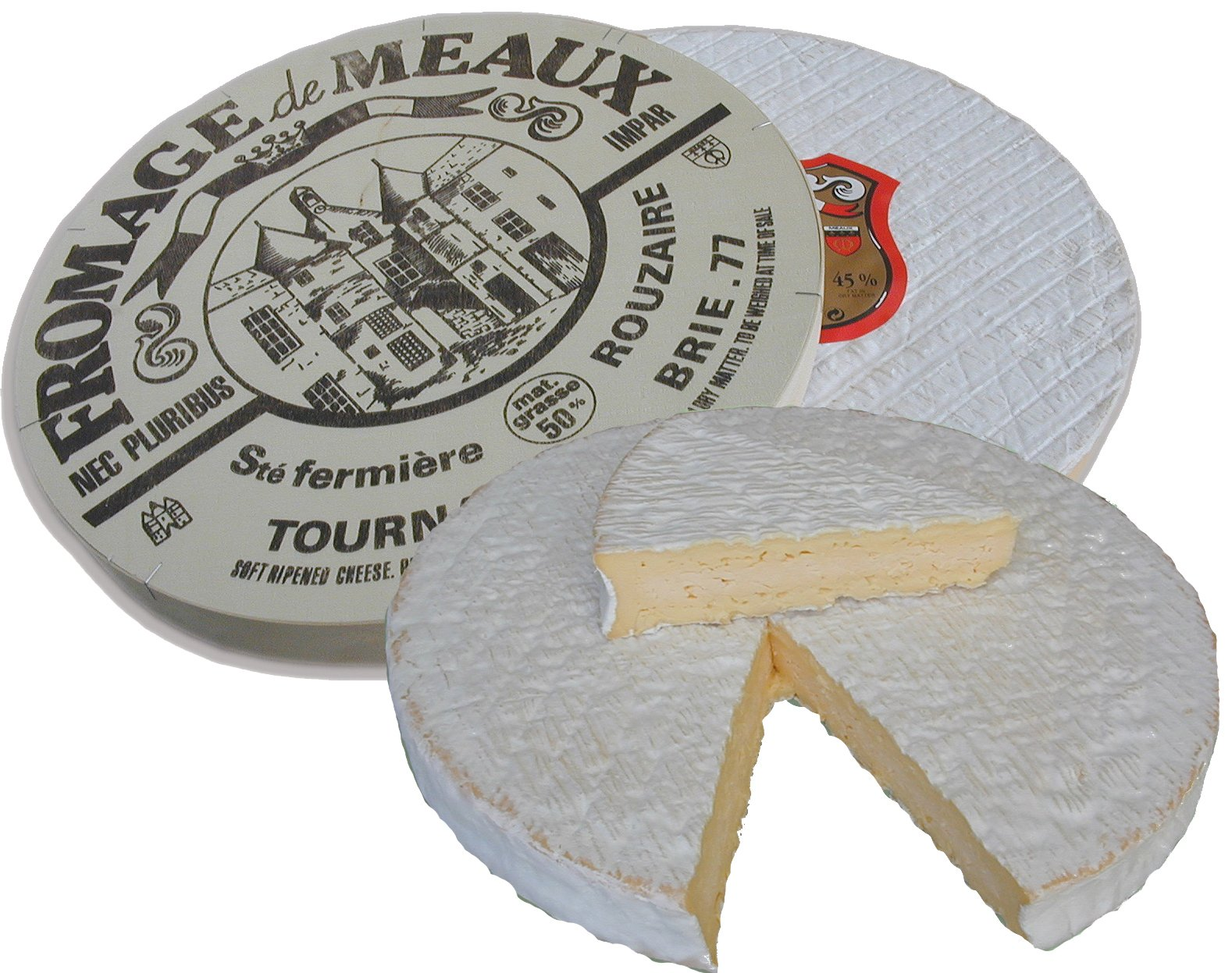 Brie De Meaux Cheese (Whole Wheel Approximately 7 Lbs) by Marky's Caviar