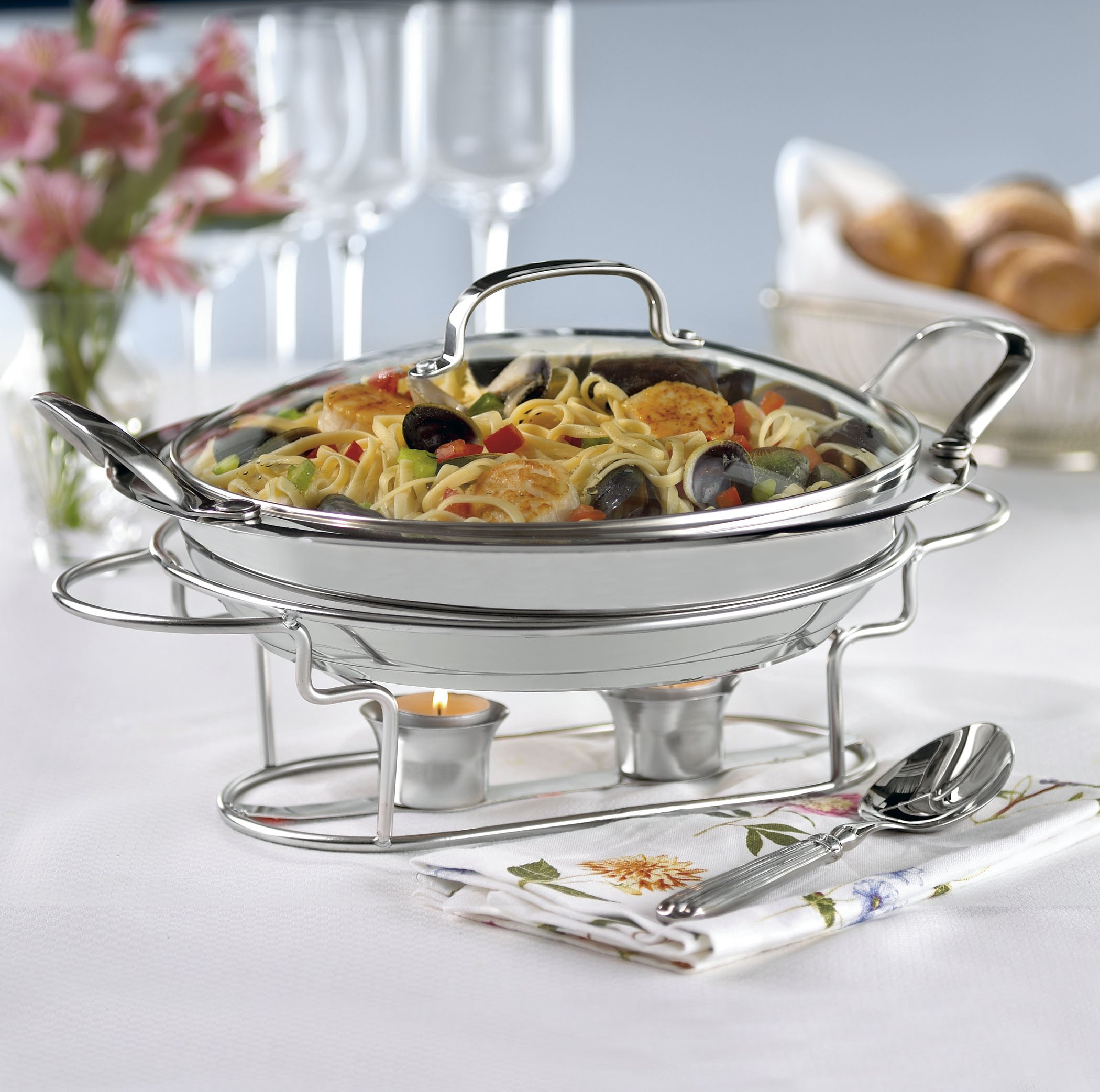 Cuisinart 7BSR-28 Stainless 11-Inch Round Buffet Servers by Cuisinart