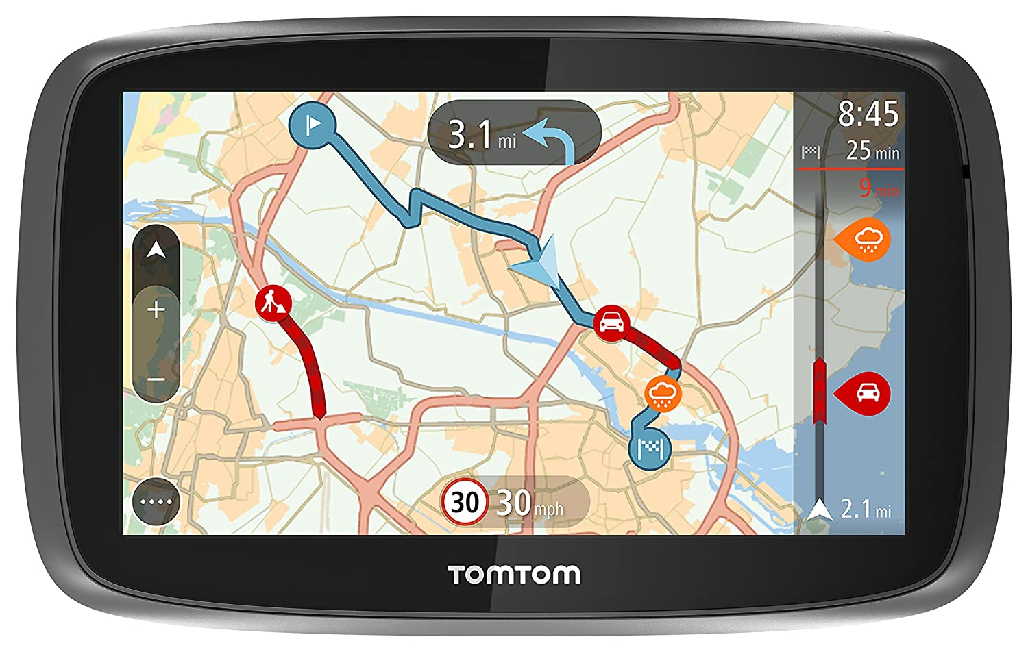 Tomtom Go 50 5 Inch Sat Nav With Western Euan Maps And Lifetime Map And Traffic Updates Amazon Co Uk Electronics