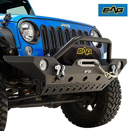 Jeep Wrangler Jk Front Bumper >> Eag 2007 2018 Jeep Wrangler Jk Rock Crawler Front Bumper With Lower Skid