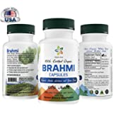 Certified Organic Brahmi Capsules (Bacopa). 100 Veg Easy Swallow Capsules. Naturally Increases Mental Alertnes and Brain Power. Raw Whole Superfood. 100% All Natural, Fresh and Original. Non GMO.