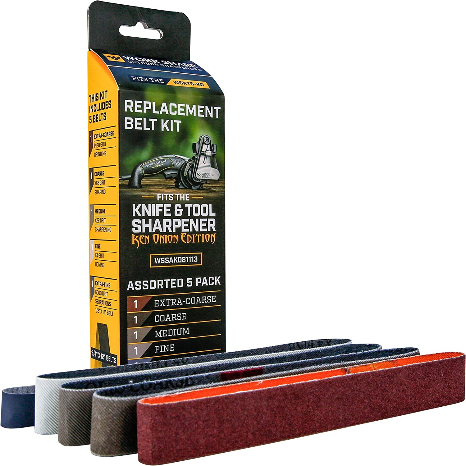 Official Replacement Belt Kit for the Work Sharp Knife and Tool Sharpener Ken Onion Edition - Work Sharp Tool Sharpener -