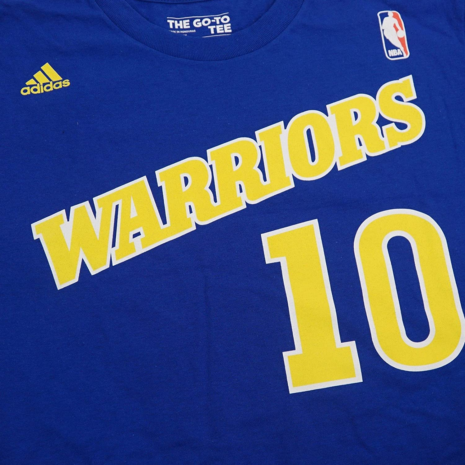 Adidas Blue Golden Throwback T Shirt Bol Manute Royal State Warriors lOkuiTwXZP