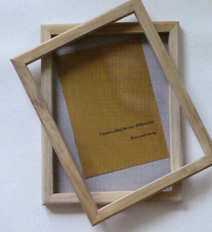 papiere stesso schoepfen–Papier schoepf cornice 23X 30per A4/Tradizione strumento anche per bambino/incl. Istruzioni tribal paper