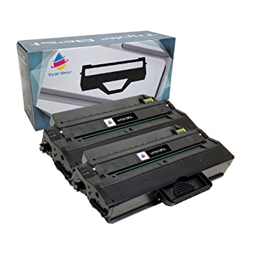 Amazon.com: mytriplebest® Conjunto de 2 Black Laser Toner ...