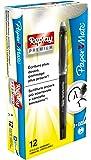 PaperMate Replay Premium - Bolígrafo de gel borrable, punta media de 0,7mm, negro, paquete de 12
