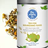 The Moms Co Nourishing Feeds for Breastfeeding Moms, 100% Caffeine Free Herbal Tea for Breastfeeding milk support and to help ease Baby Colic, for 1 Month Use