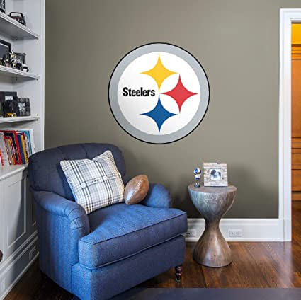 36728373a61 Image Unavailable. Image not available for. Color  Fathead NFL Pittsburgh  Steelers Pittsburgh Steelers  Logo - Giant Officially Licensed NFL  Removable Wall ...