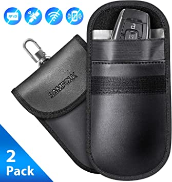 Key Signal Blocker Pouch Case,... 2 Pack SAMFOLK Faraday Bag for Car Keys