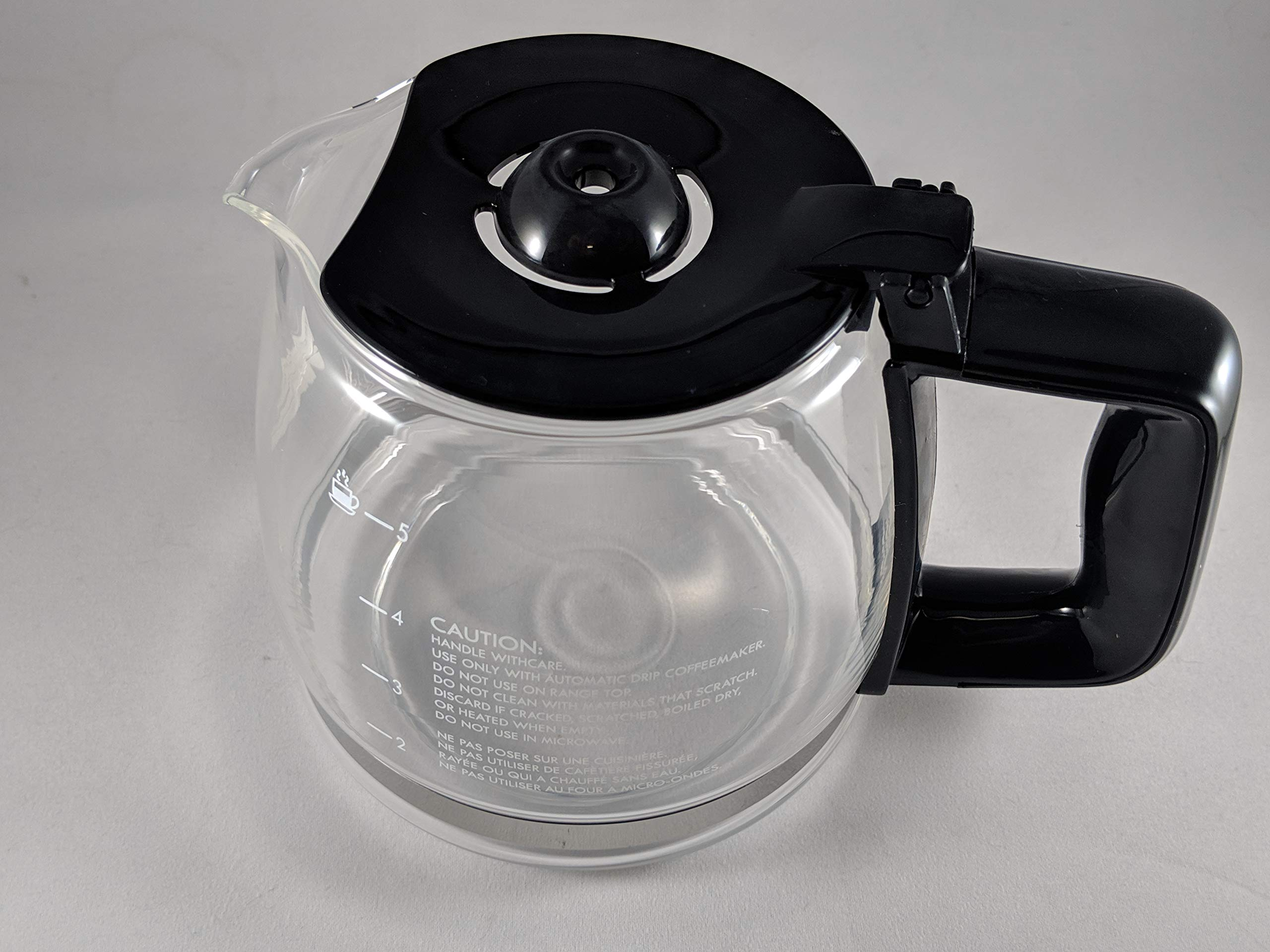 Compatible with Kenmore 100.8050990A 5-cup Coffee Maker Carafe