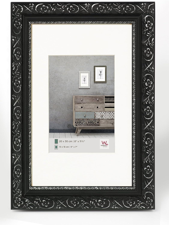 Walther cadres en bois baroque noir argent 30 x 40 cm Cadre Photo Cadre Photo Photo