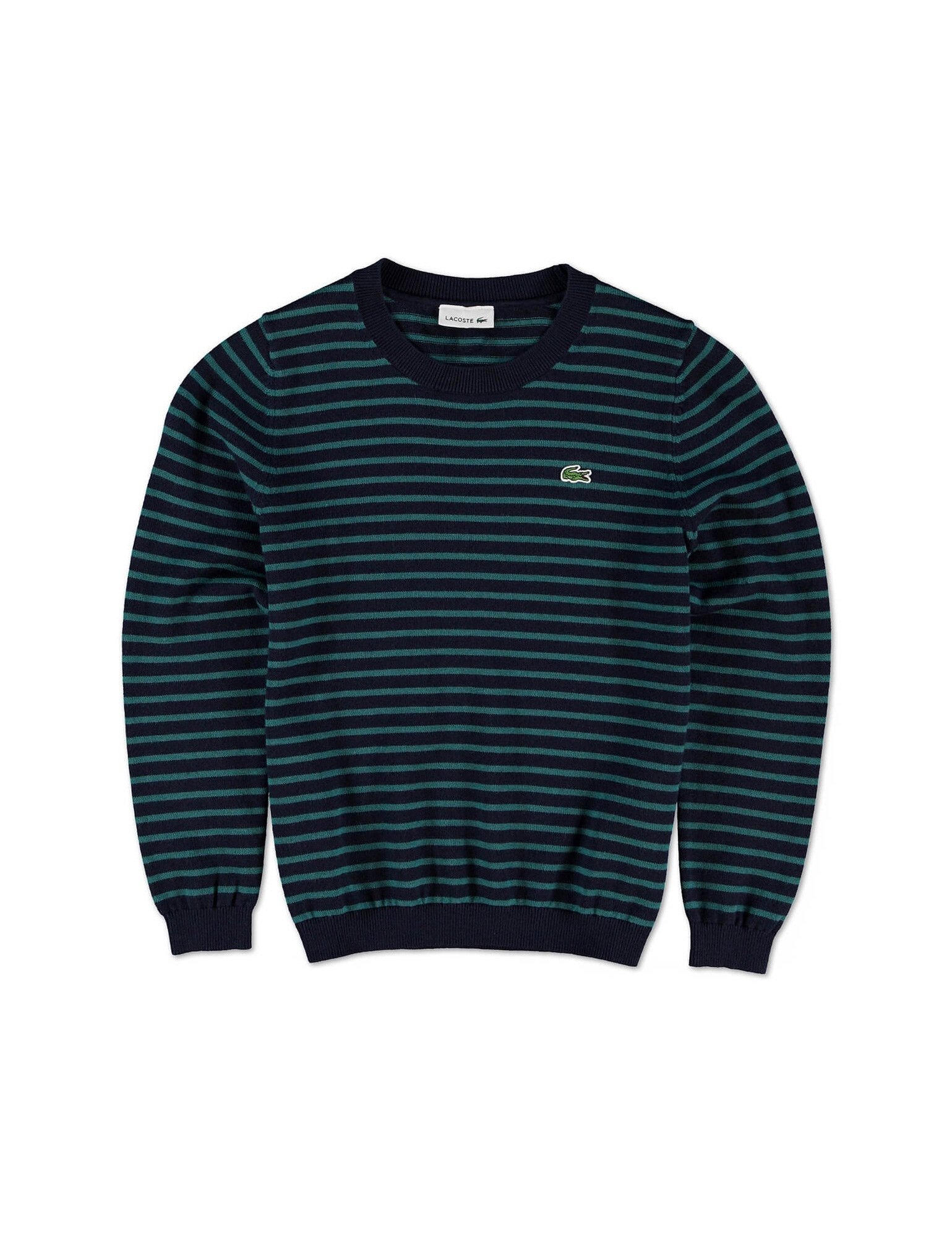 Lacoste Boy's Navy Striped Sweater in Size 8 Years (128 cm) Navy