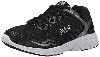 fila running shoes womens. fila women\u0027s gamble running shoe, black/black/metallic silver, shoes womens