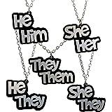 Gender pronoun conversation heart stud earrings .5\u201d sheher hehim theythem valentines