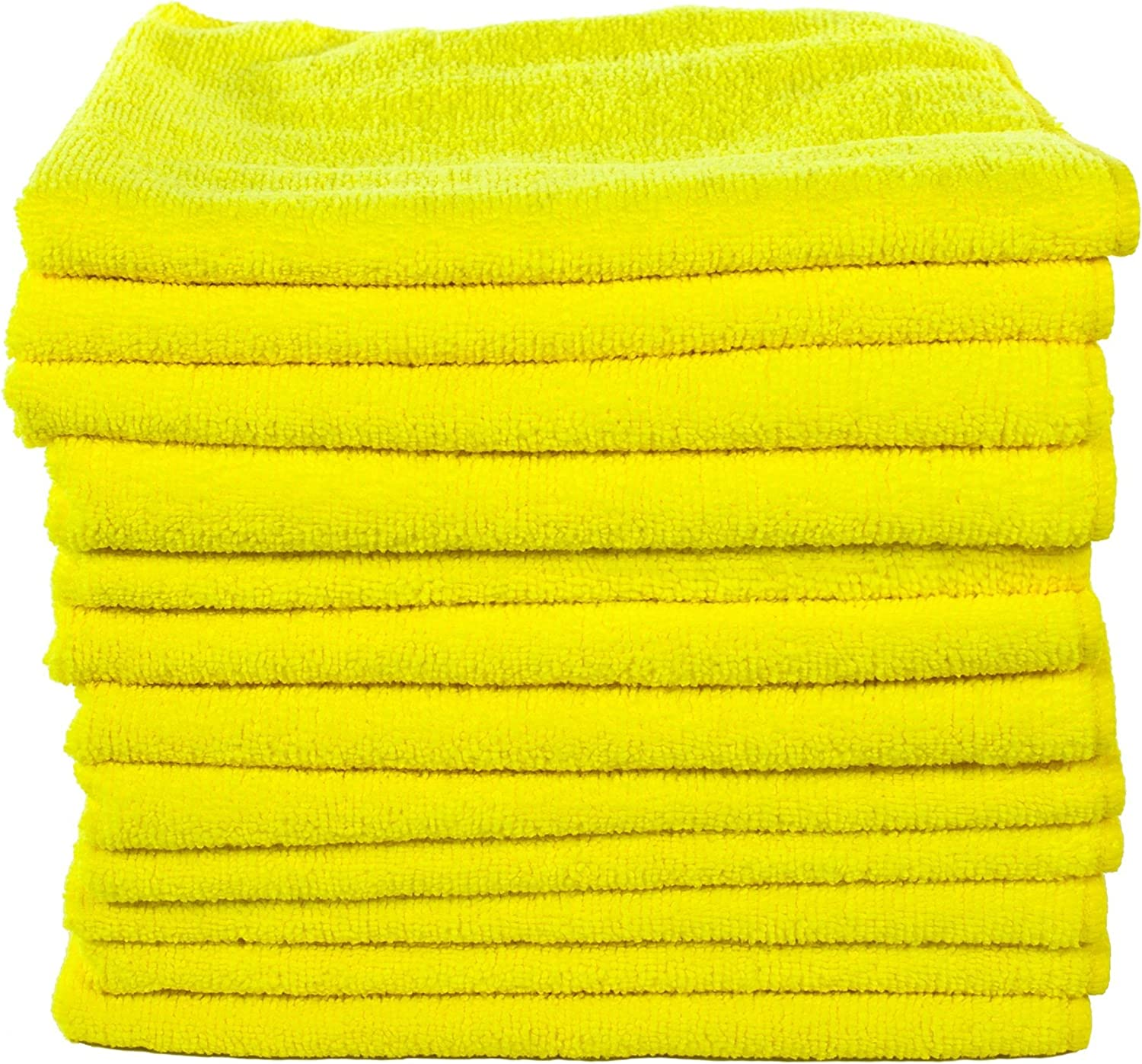 Pack of 12 Real Clean MIC/_MGREEN/_12 Workhorse Professional Grade Microfiber Towel Chemical and Water Safe Material 16 x 16 Green