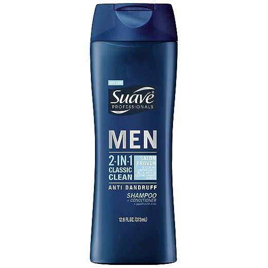 Suave Men 2in1 AntiDandruff Shampoo & Conditioner, Classic Clean, 12.6 oz