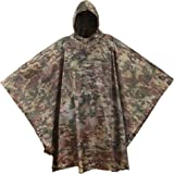 USGI Industries Military Spec Poncho - Emergency Tent, Shelter, Survival - Multi Use Rip Stop Camouflage Rain Poncho