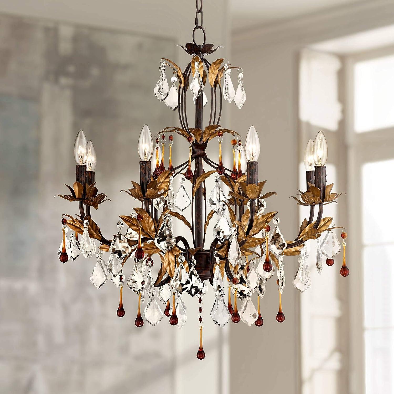 Kathy ireland venezia gold 8 light 26 wide chandelier amazon com