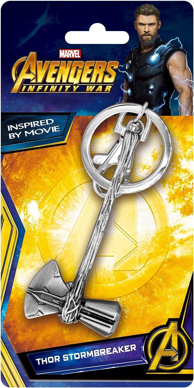 Metal Key Chain Avengers 3 Thor Stormbreaker Pewter New 68972
