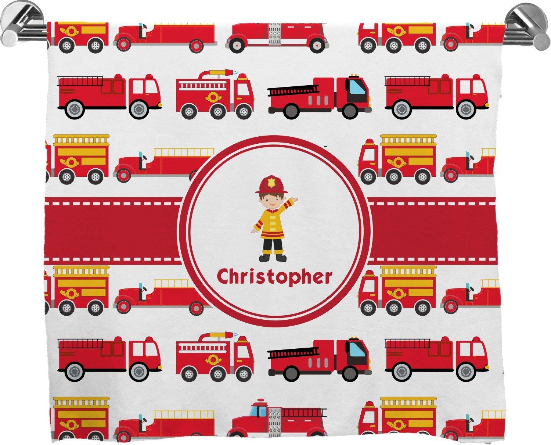 Camiones de bomberos completa impresión toalla de baño (personalizado): Amazon.es: Hogar