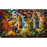 "Picture Perfect International - Lona Decorativo para Pared, diseño de Dos Hermanas de Leonid Afremov, 18"" x 30"" x 1"", 1"