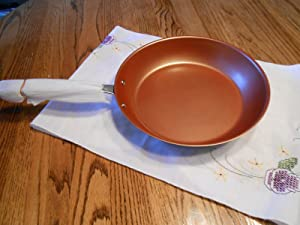 NuWave PerfectGreen 10.5 Inch Skillet Fry Pan For Use With PIC Induction Cooktop (Copper)