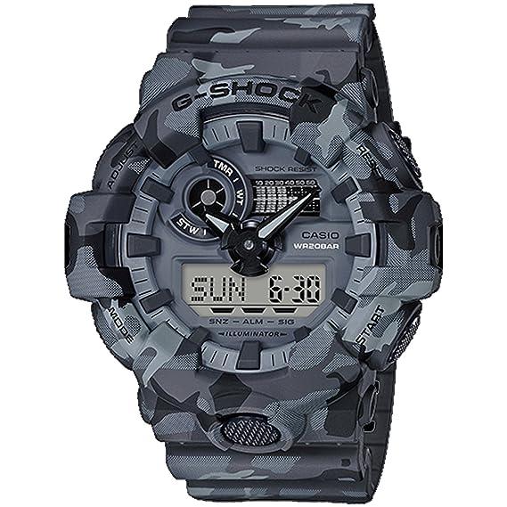 b4d39d0a94ea G-Shock Men s GA700CM-8A Gray Camo One Size  Amazon.com.mx  Relojes