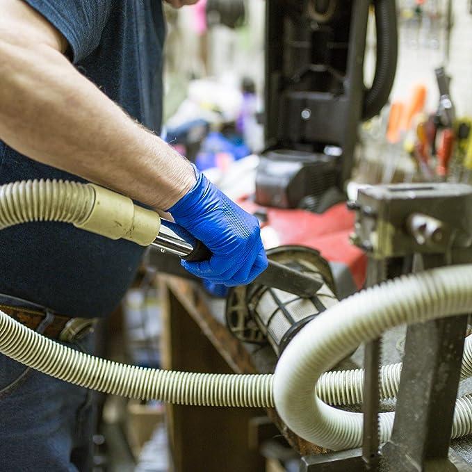 6 mil sin l/átex azul real GLOVEWORKS HD Grado industrial Caja de 100 sin polvo AMMEX GWRB48104E0BX Guantes de nitrilo desechables extra grande para servicio pesado