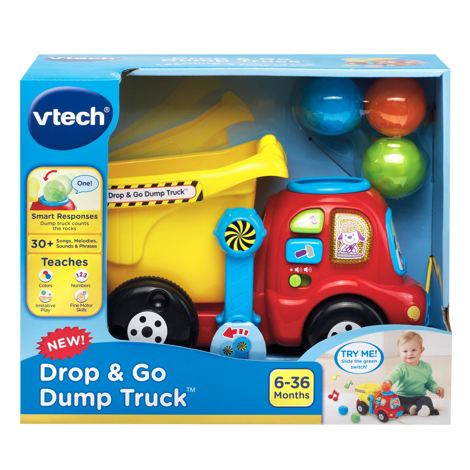 amazon com vtech drop and go dump truck toys u0026 games