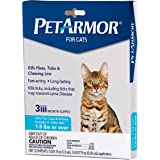 PETARMOR Flea & Tick Treatment for Cats with Fipronil (Over 1.5 Pounds), 3 Monthly Applications