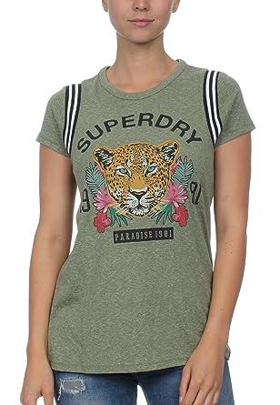 0429a8666318 Superdry T-Shirt Damen Eden Tee Soft Khaki, Größe:XS: Amazon.de ...