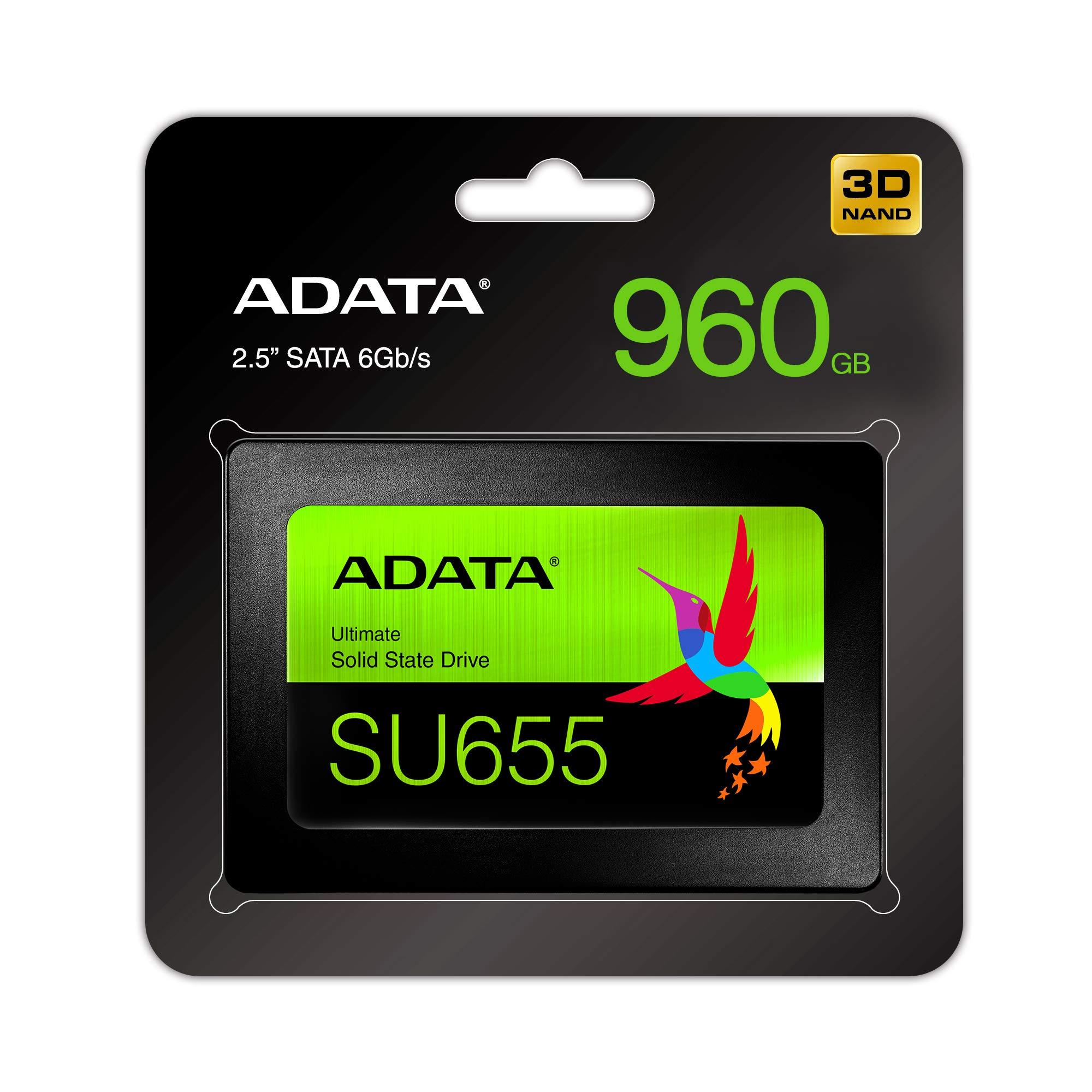 ADATA SU655 960GB 3D NAND 2.5 Inch SATA III High Speed Read Up to 520MB/S Internal SSD (ASU655SS-960GT-C) by ADATA (Image #4)
