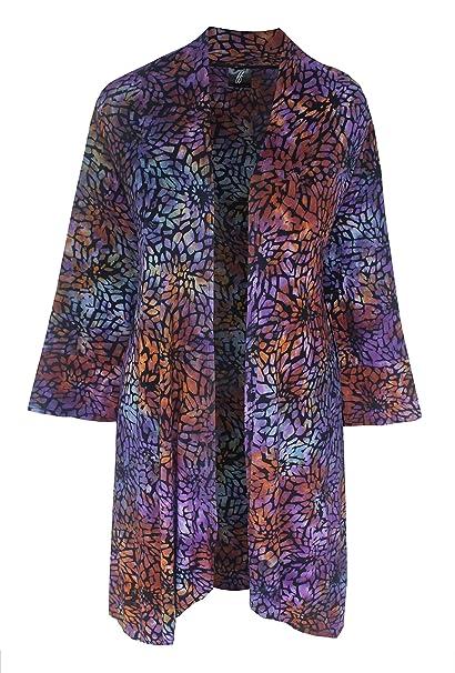 Amazon.com: De la Mujer Plus Size Kimono chaqueta de punto ...