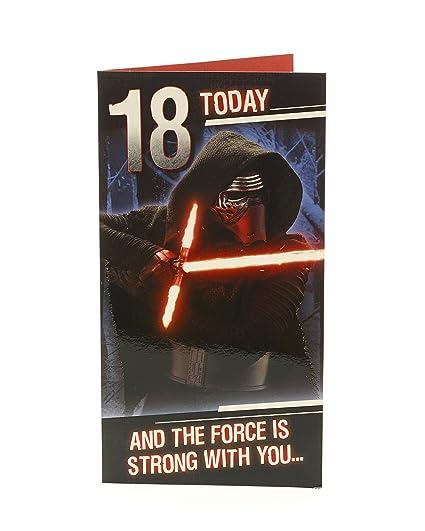 Hanson 347691-0-1 Star Wars - Tarjeta de felicitación de 18 ...