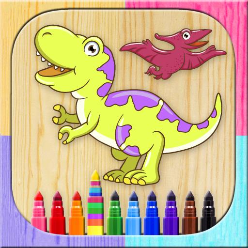 Juego de niños para dibujar y colorear dinos. Colorea con los dedos: Amazon.es: Appstore para Android