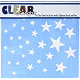 """Clear Scraps Stars Stencils, 12 by 12"""""""