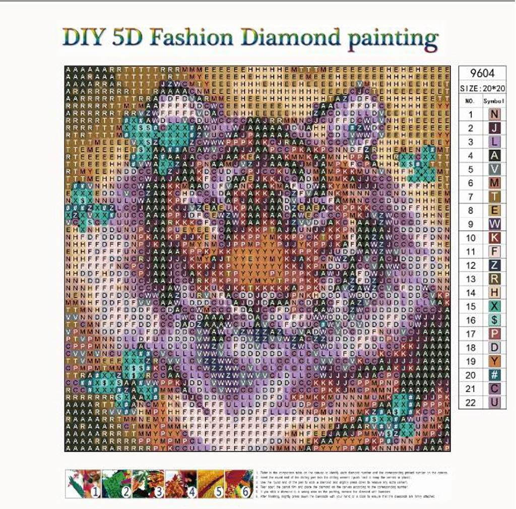 Dumanfs 5D DIY Diamond Painting Kit 5D Round Diamond Painting Full Drill for Adults Cross Stitch Craft Kit Embroidery