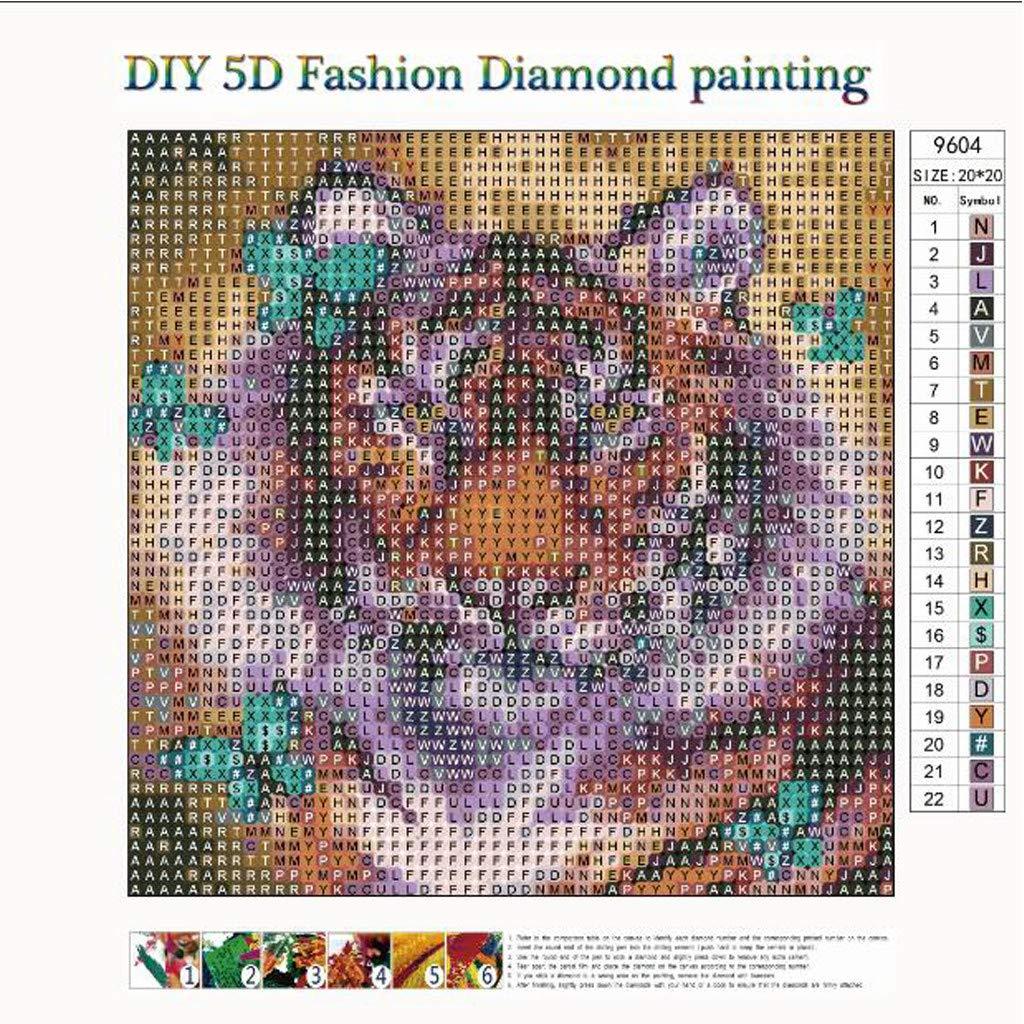 Dumanfs 5D Diamond Painting Kit Full Drill DIY Rhinestone Embroidery Cross Stitch Arts Craft for Home Wall