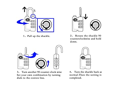 81U13 gaY5L._SX463_ oneplus luggage lock, tsa approved padlock for travel safety and padlock diagram at crackthecode.co