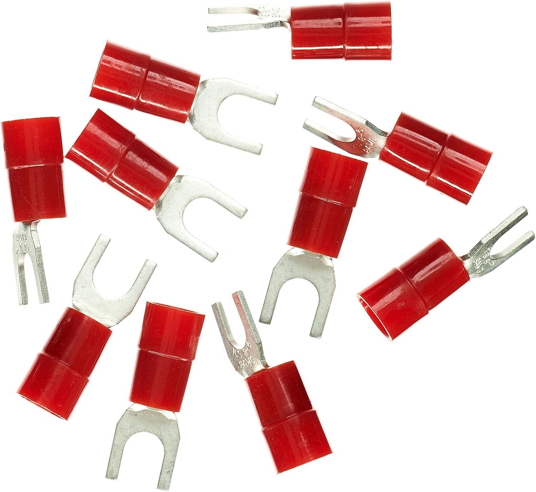 Haupa Blv260860 Quetsch Gabelkabelschuh Isoliert 10mm M6 Rot 10 Stück 10 Mm Baumarkt