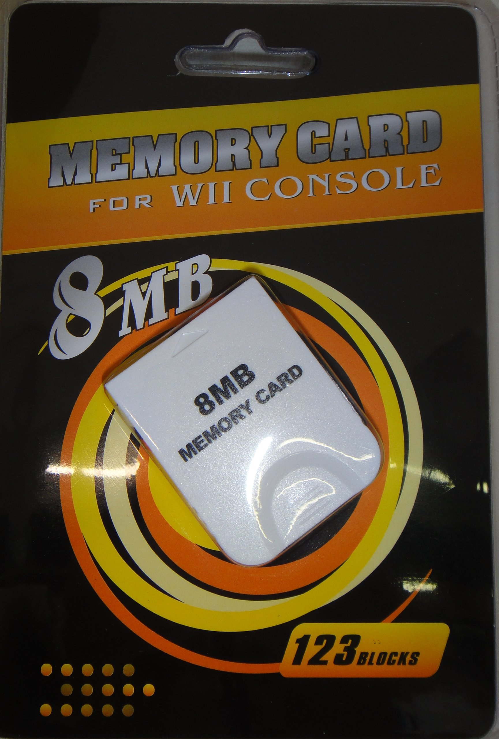 Ngc Memory Card 8mb For Wii and Game Cube by Orbital Accessories