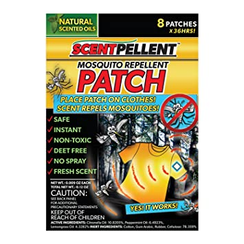 36 Hour Mosquito Repellent Patch - Non Toxic, Deet Free, No Spray  Great  for Camping, Boating, Fishing,