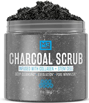 Amazon Com M3 Naturals Activated Charcoal Scrub Infused With