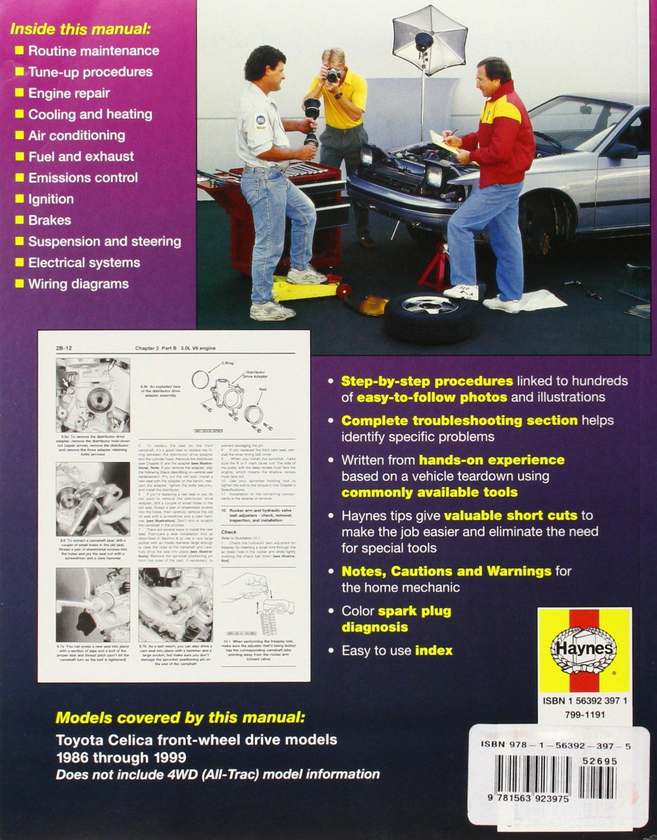 Toyota Celica Fwd 86 99 1986 1999 Haynes Automotive Repair Wiring Diagram Manuals Larry Warren J H 9781563923975 Books