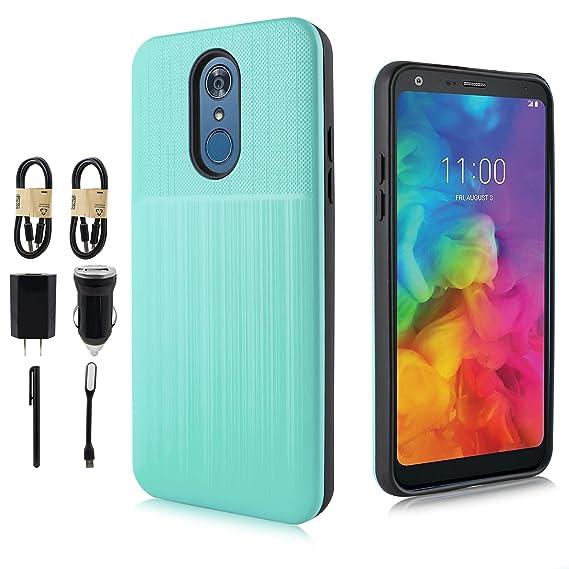 Amazon com: LG Q7 Case, LG Q7 Plus 64gb Case, [Brushed