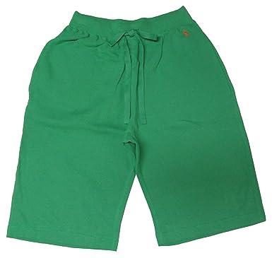 Polo Ralph Lauren Mens Thermal Waffle Sleep Shorts Green at Amazon ...